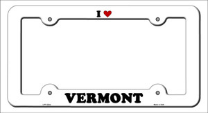 Love Vermont Wholesale Novelty Metal License Plate Frame