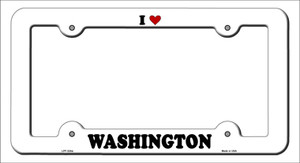 Love Washington Wholesale Novelty Metal License Plate Frame