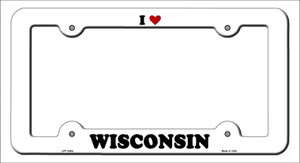 Love Wisconsin Wholesale Novelty Metal License Plate Frame