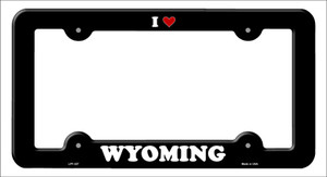 Love Wyoming Wholesale Novelty Metal License Plate Frame