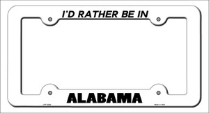 Be In Alabama Wholesale Novelty Metal License Plate Frame
