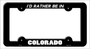 Be In Colorado Wholesale Novelty Metal License Plate Frame
