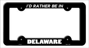 Be In Delaware Wholesale Novelty Metal License Plate Frame