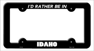 Be In Idaho Wholesale Novelty Metal License Plate Frame