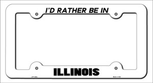 Be In Illinois Wholesale Novelty Metal License Plate Frame