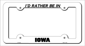 Be In Iowa Wholesale Novelty Metal License Plate Frame