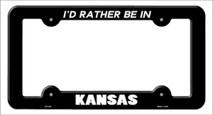 Be In Kansas Wholesale Novelty Metal License Plate Frame