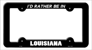Be In Louisiana Wholesale Novelty Metal License Plate Frame
