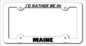 Be In Maine Wholesale Novelty Metal License Plate Frame