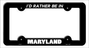 Be In Maryland Wholesale Novelty Metal License Plate Frame