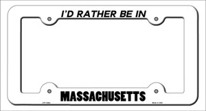 Be In Massachusetts Wholesale Novelty Metal License Plate Frame