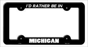 Be In Michigan Wholesale Novelty Metal License Plate Frame