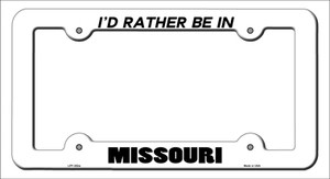 Be In Missouri Wholesale Novelty Metal License Plate Frame