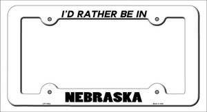 Be In Nebraska Wholesale Novelty Metal License Plate Frame