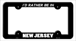 Be In New Jersey Wholesale Novelty Metal License Plate Frame