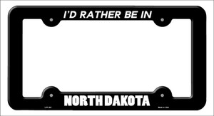 Be In North Dakota Wholesale Novelty Metal License Plate Frame