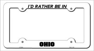 Be In Ohio Wholesale Novelty Metal License Plate Frame