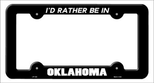 Be In Oklahoma Wholesale Novelty Metal License Plate Frame