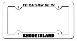 Be In Rhode Island Wholesale Novelty Metal License Plate Frame