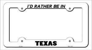 Be In Texas Wholesale Novelty Metal License Plate Frame
