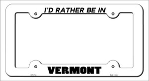 Be In Vermont Wholesale Novelty Metal License Plate Frame