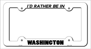 Be In Washington Wholesale Novelty Metal License Plate Frame