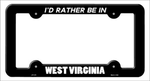 Be In West Virginia Wholesale Novelty Metal License Plate Frame