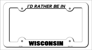 Be In Wisconsin Wholesale Novelty Metal License Plate Frame