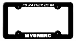 Be In Wyoming Wholesale Novelty Metal License Plate Frame