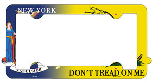 New York|Dont Tread Wholesale Novelty Metal License Plate Frame