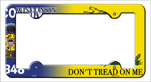 Wisconsin|Dont Tread Wholesale Novelty Metal License Plate Frame