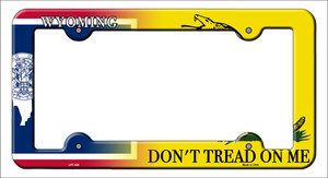 Wyoming|Dont Tread Wholesale Novelty Metal License Plate Frame