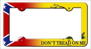 Confederate Flag|Dont Tread Wholesale Novelty Metal License Plate Frame