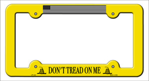 Dont Tread Flag Yellow Wholesale Novelty Metal License Plate Frame