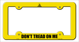 Dont Tread Yellow Wholesale Novelty Metal License Plate Frame