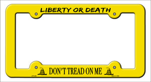 Liberty or Death Wholesale Novelty Metal License Plate Frame