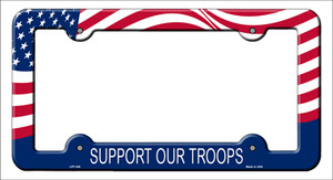 Support Our Troops Wholesale Novelty Metal License Plate Frame