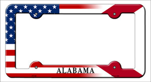 Alabama|American Flag Wholesale Novelty Metal License Plate Frame