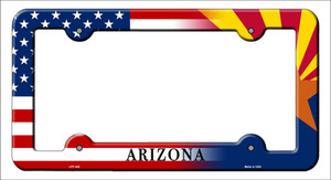 Arizona|American Flag Wholesale Novelty Metal License Plate Frame