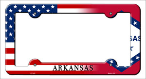 Arkansas|American Flag Wholesale Novelty Metal License Plate Frame
