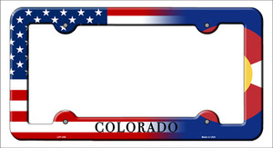 Colorado|American Flag Wholesale Novelty Metal License Plate Frame