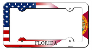 Florida|American Flag Wholesale Novelty Metal License Plate Frame