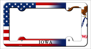 Iowa|American Flag Wholesale Novelty Metal License Plate Frame