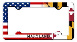 Maryland|American Flag Wholesale Novelty Metal License Plate Frame