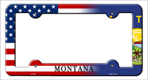 Montana|American Flag Wholesale Novelty Metal License Plate Frame