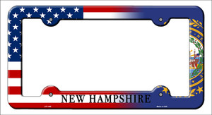 New Hampshire American Flag Wholesale Novelty Metal License Plate Frame