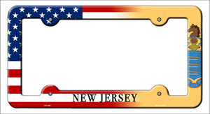 New Jersey American Flag Wholesale Novelty Metal License Plate Frame