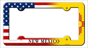 New Mexico American Flag Wholesale Novelty Metal License Plate Frame
