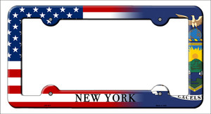 New York|American Flag Wholesale Novelty Metal License Plate Frame