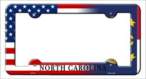 North Carolina|American Flag Wholesale Novelty Metal License Plate Frame